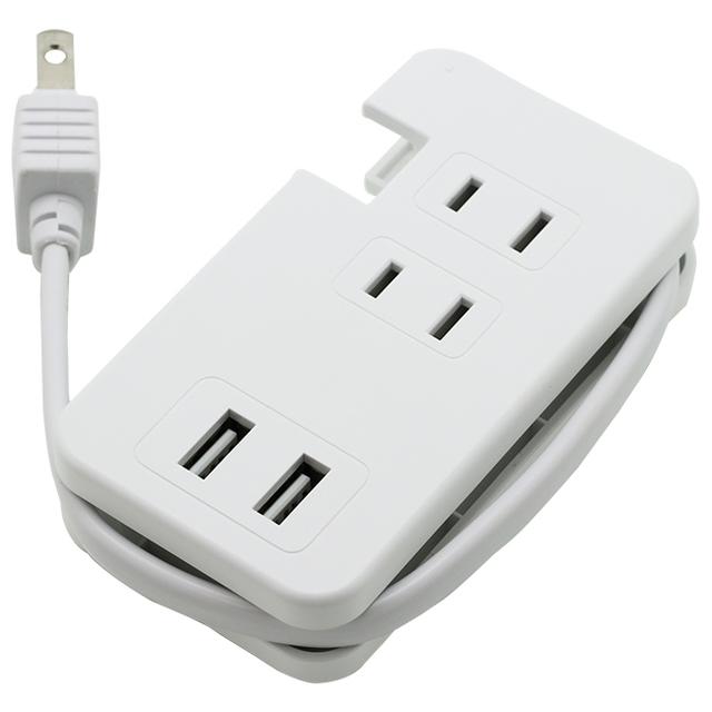 USBポート付きモバイルタップType-A×2/AC×3